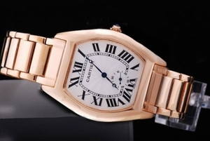 Popular Cartier Tortue with White Dial-Manual Winding AAA Watches [K3C4]