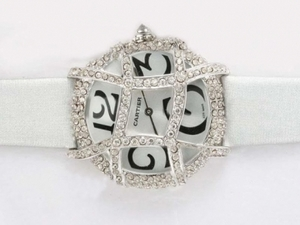 Quintessential Cartier Pasha Diamond Bezel with White Dial and Strap Lady Model AAA Watches [K2O7]