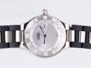 Vintage Cartier Pasha Must de 21 with Silver Dial-Lady Size AAA Watches [J1E9]