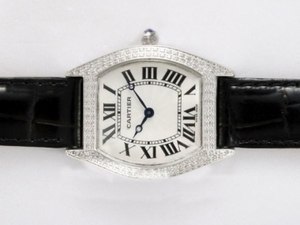 Vintage Cartier Tortue Diamond Bezel with White Dial AAA Watches [G1H4]