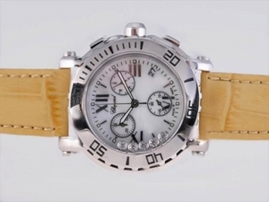 Quintessential Chopard Happy Sport Working Chronograph with White Dial Lady Size AAA Watches [W5Q1]
