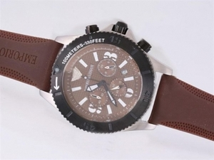 Fancy Emporio Armani Working Chronograph with Brown Dial AAA Watches [J8G7]