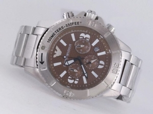 Fancy Emporio Armani Working Chronograph with Brown Dial AAA Watches [N6N3]