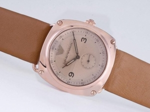 Modern Emporio Armani Rose Gold Case with Champagne Dial AAA Watches [P2E5]
