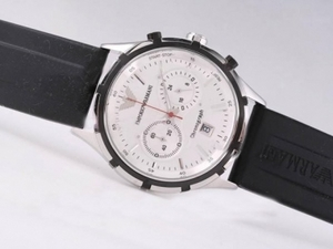 Modern Emporio Armani Working Chronograph with White Dial AAA Watches [X7T1]