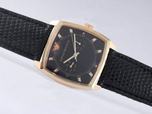 Perfect Emporio Armani Chronograph Gold Case with Black Dial AAA Watches [T3S9]