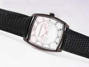 Perfect Emporio Armani Chronograph PVD Case with White Dial AAA Watches [Q2X4]