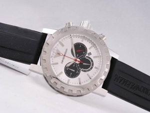 Perfect Emporio Armani Working Chronograph with White Dial AAA Watches [W1R3]