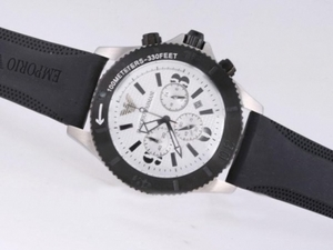 Quintessential Emporio Armani Working Chronograph with White Dial AAA Watches [C1T4]