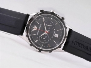 Vintage Emporio Armani Working Chronograph with Black Dial AAA Watches [S9C9]