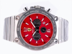 Gorgeous Ferrari Working Chronograph with Red Dial-Sapphire Crystal AAA Watches [L1B1]