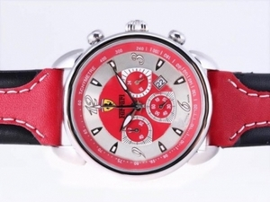 Modern Ferrari Working Chronograph with Red Dial and Strap AAA Watches [B3D9]