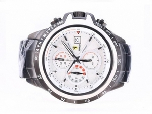 Perfect Ferrari Working Chronograph Full PVD with White Dial AAA Watches [X8K3]
