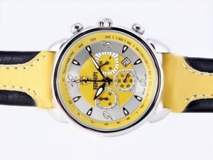 Perfect Ferrari Working Chronograph with Yellow Dial and Strap AAA Watches [U2E6]