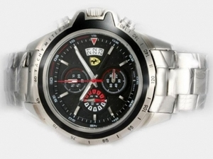 Popular Ferrari Working Chronograph with Black Dial AAA Watches [B3A5]