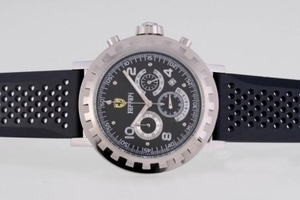 Popular Ferrari Working Chronograph with Black Dial-Rubber Strap AAA Watches [V5W1]