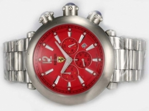 Quintessential Girard Perregaux Ferrari Working Chronograph with Red Dial AAA Watches [S5J9]