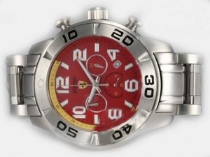 Quintessential Girard Perregaux Ferrari Working Chronograph with Red Dial AAA Watches [P7D2]