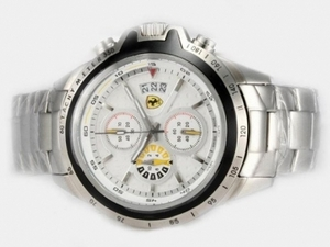 Vintage Ferrari Working Chronograph with White Dial AAA Watches [U9O9]