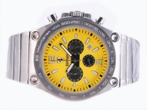 Vintage Ferrari Working Chronograph with Yellow Dial-Sapphire Crystal AAA Watches [N7U3]
