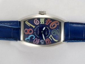 Fancy Franck Muller Crazy Hours Automatic with Blue Dial and Strap AAA Watches [O6L5]