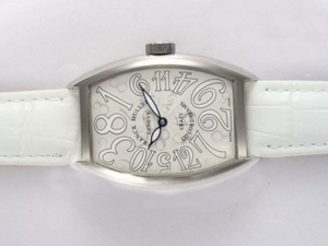 Fancy Franck Muller Crazy Hours Color Dreams Automatic with White Dial AAA Watches [W4R7]