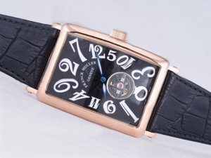 Fancy Franck Muller Long Island Tourbillon Automatic Rose Gold Case AAA Watches [O1O3]