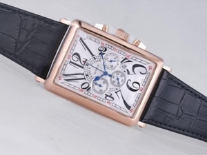 Modern Franck Muller Long Island Working Chronograph Rose Gold Case AAA Watches [F2A7]