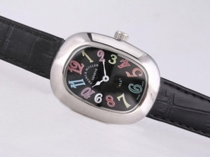 Perfect Franck Muller Galet with Black Dial and Strap-Lady Size AAA Watches [F5I9]