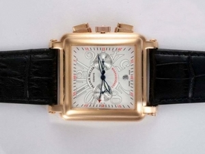 Popular Franck Muller Conquistador Chronograph Automatic Gold Case AAA Watches [N7R5]