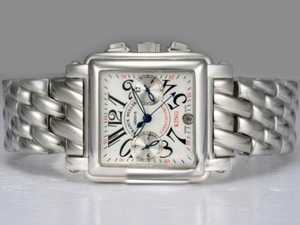 Popular Franck Muller Conquistador Chronograph Automatic with White Dial AAA Watches [W5K2]