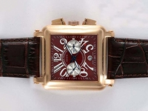 Popular Franck Muller Conquistador Chronograph Automatic Gold Case AAA Watches [C4T9]