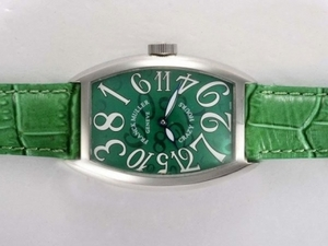 Popular Franck Muller Crazy Hours Automatic with Green Dial and Strap AAA Watches [P6O5]
