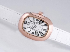 Popular Franck Muller Galet Rose Gold Case with White Dial and Strap-Lady Size AAA Watches [F2T4]