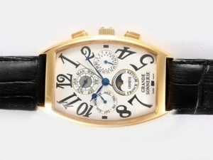 Popular Franck Muller Grande Sonnerie Moonphase Chronograph Automatic AAA Watches [F4I7]