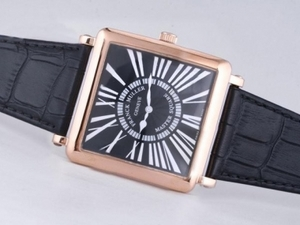 Popular Franck Muller Master Square Rose Gold Case with Black Dial AAA Watches [W2J1]
