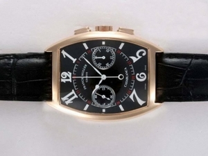 Quintessential Franck Muller Casablanca Chronograph Lemania Movement Rose Gold AAA Watches [T8D5]
