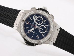 Fancy Hublot Big Bang Chronograph Asia Valjoux 7750 With Diamond Bezel AAA Watches [E8U9]