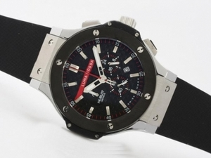 Fancy Hublot Big Bang Luna Rosa Working Chrono with Black PVD Bezel AAA Watches [Q9T8]