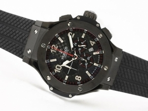 Gorgeous Hublot Big Bang Working Chrono PVD Case with Carbon Fibre Style AAA Watches [W1E5]