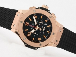 Gorgeous Hublot Big Bang Working Chrono Rose Gold Case with Carbon Fibre AAA Watches [G9K5]