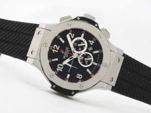 Gorgeous Hublot Big Bang Working Chronograph with Black Dial-Same Structure As ETA 7750 Movement AAA Watches [D6K1]