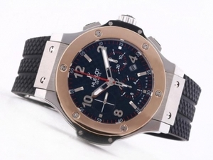 Great Hublot Big Bang Chronograph Asia Valjoux 7750 Movement-18K Rose AAA Watches [U4W7]