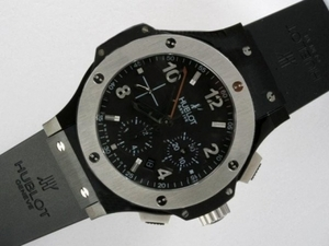 Modern Hublot Big Bang Chronograph Asia Valjoux 7750 Movement PVD Case AAA Watches [R4O3]