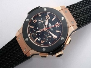 Modern Hublot Big Bang Chronograph Asia Valjoux 7750 Movement Rose Gold AAA Watches [N7L1]