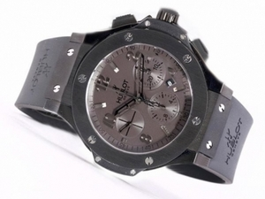 Perfect Hublot Big Bang Chronograph Asia Valjoux 7750 Movement PVD Case AAA Watches [U4H5]