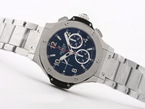 Popular Hublot Big Bang Chronograph Asia Valjoux 7750 Movement-SS Bracel AAA Watches [X6M9]