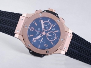 Vintage Hublot Big Bang Chronograph Asia Valjoux 7750 Movement Rose Gold AAA Watches [N6T2]