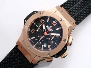 Vintage Hublot Big Bang Chronograph Asia Valjoux 7750 Movement Rose Gold AAA Watches [N9P4]
