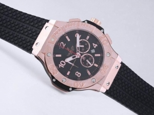 Vintage Hublot Big Bang Working Chronograph PVD Case and Rose Gold Bezel AAA Watches [O3P9]